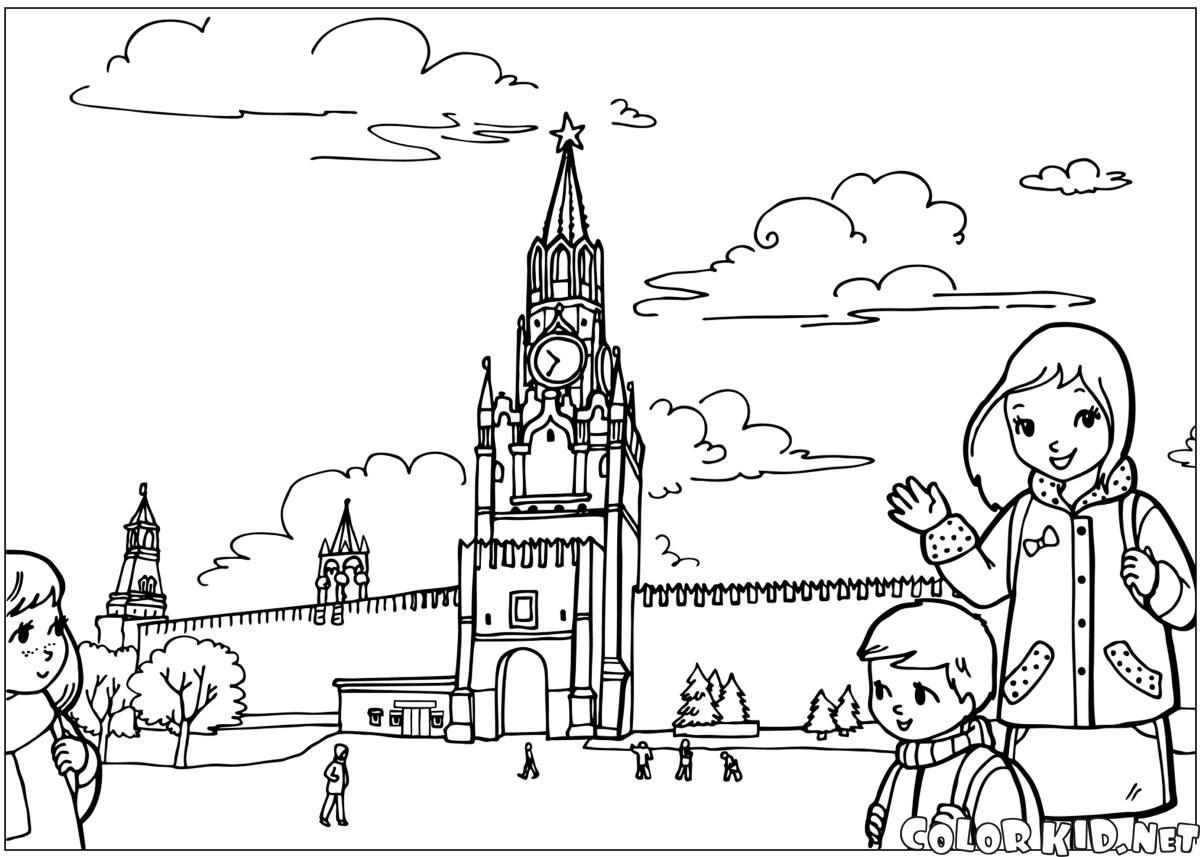 Раскраски с кремлем распечатать