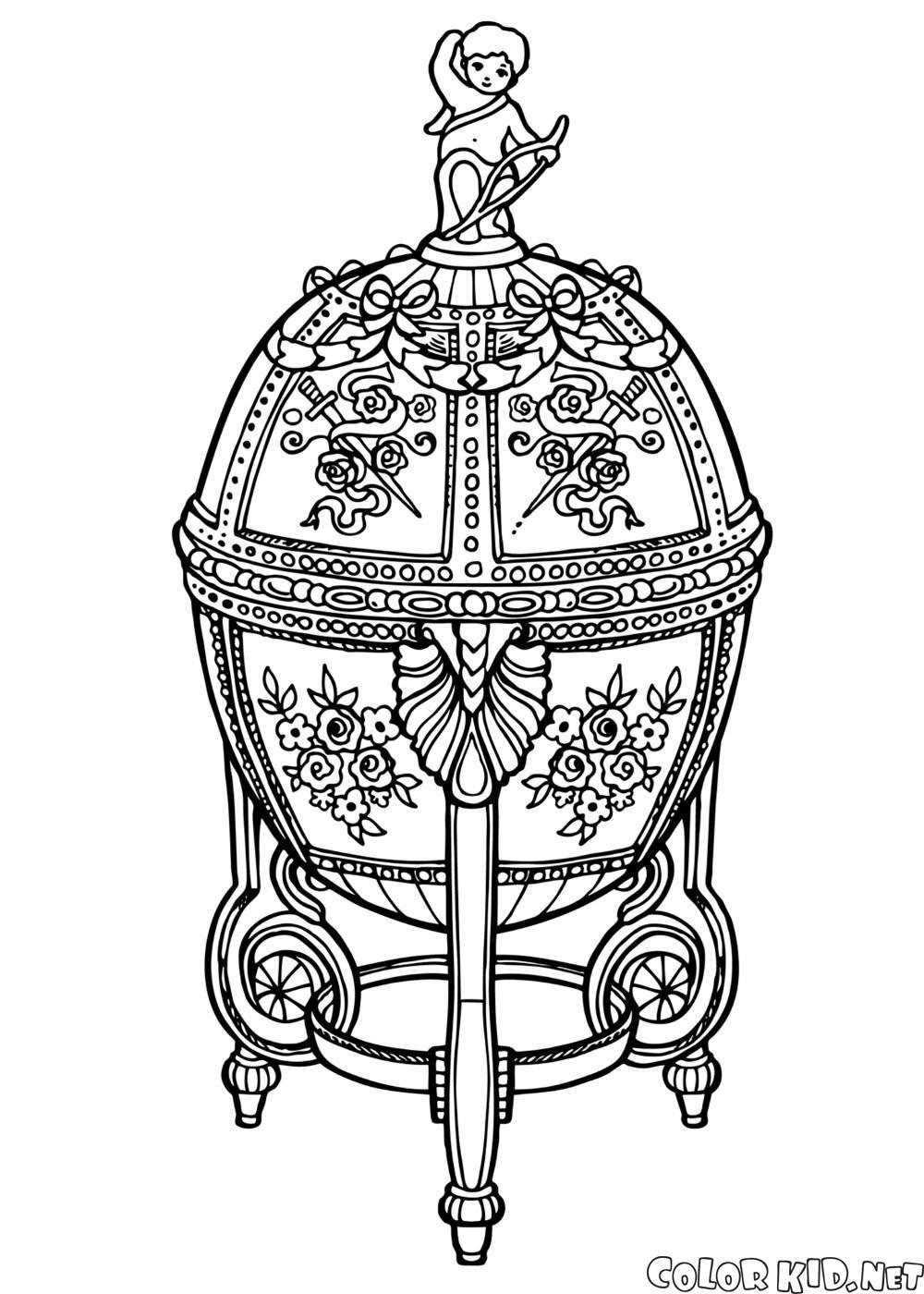 Boyama Sayfasi Faberge Yumurta