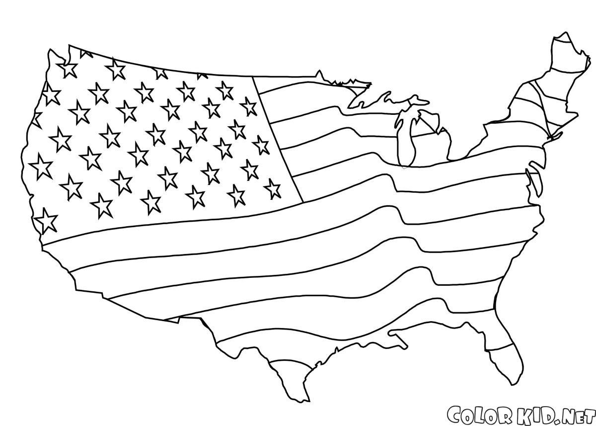 Amerikan bayrağı Harita