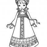 Ulusal kostüm Kız